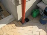 lietaus kanalizacijos suleidimas su trinkelėmis